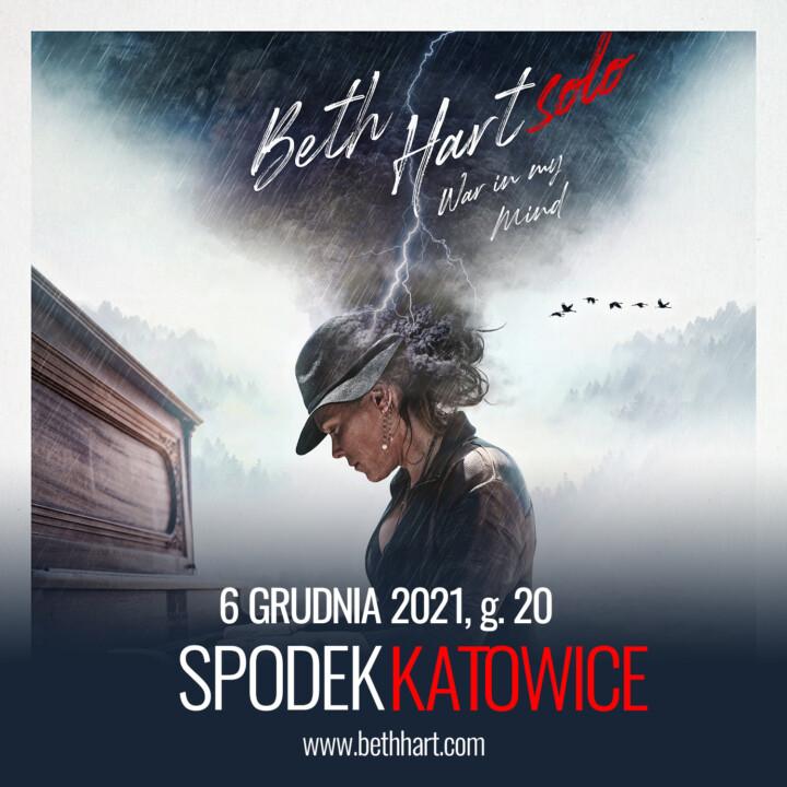 6 grudnia 2021 Beth Hart po raz pierwszy w Polsce zagra Solo!